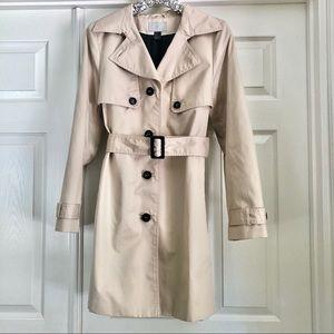 H&M Women's Tan Trench Coat - Size 12